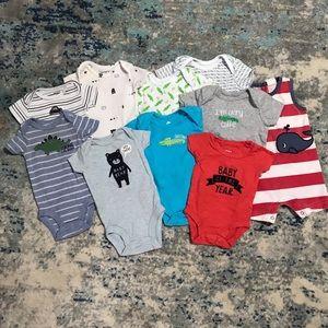 Newborn onesie lot